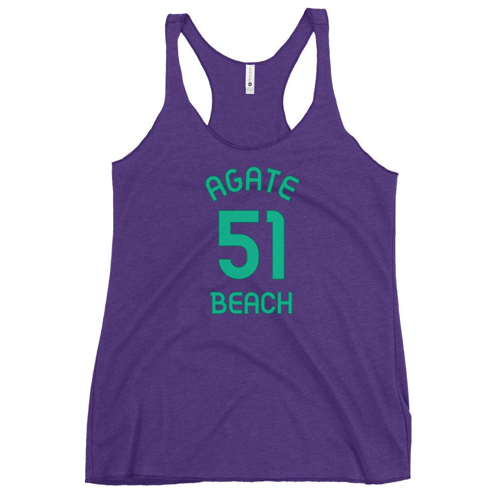 Agate Beach, Washington Women's Racerback Tank - Milepost Jersey