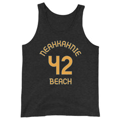 Neahkahnie, Oregon - Milepost Jersey Tank Top - Unisex - Orange Letters