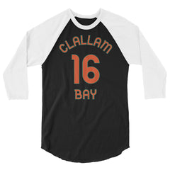 Clallam Bay, Washington - 3/4 Sleeve Raglan Milepost Jersey