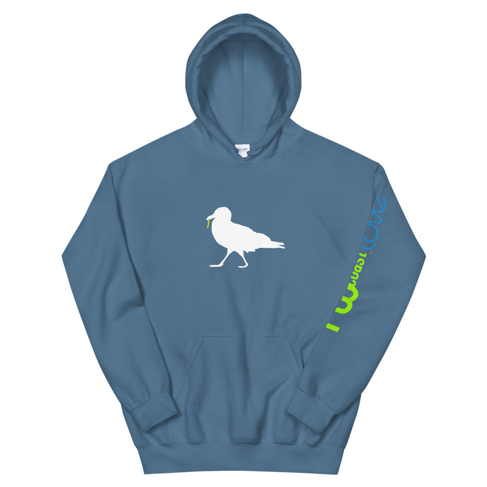 Strutting Seagull with French Fry Unisex Hoodie