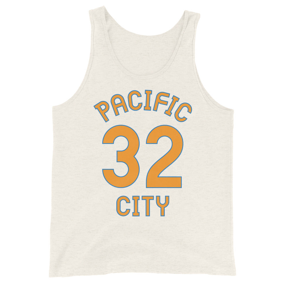 Tank Top with Pacific City and 32 printed on the front