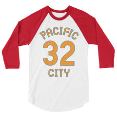 Baseball Jersey with Pacific City and the number 32 printed on front