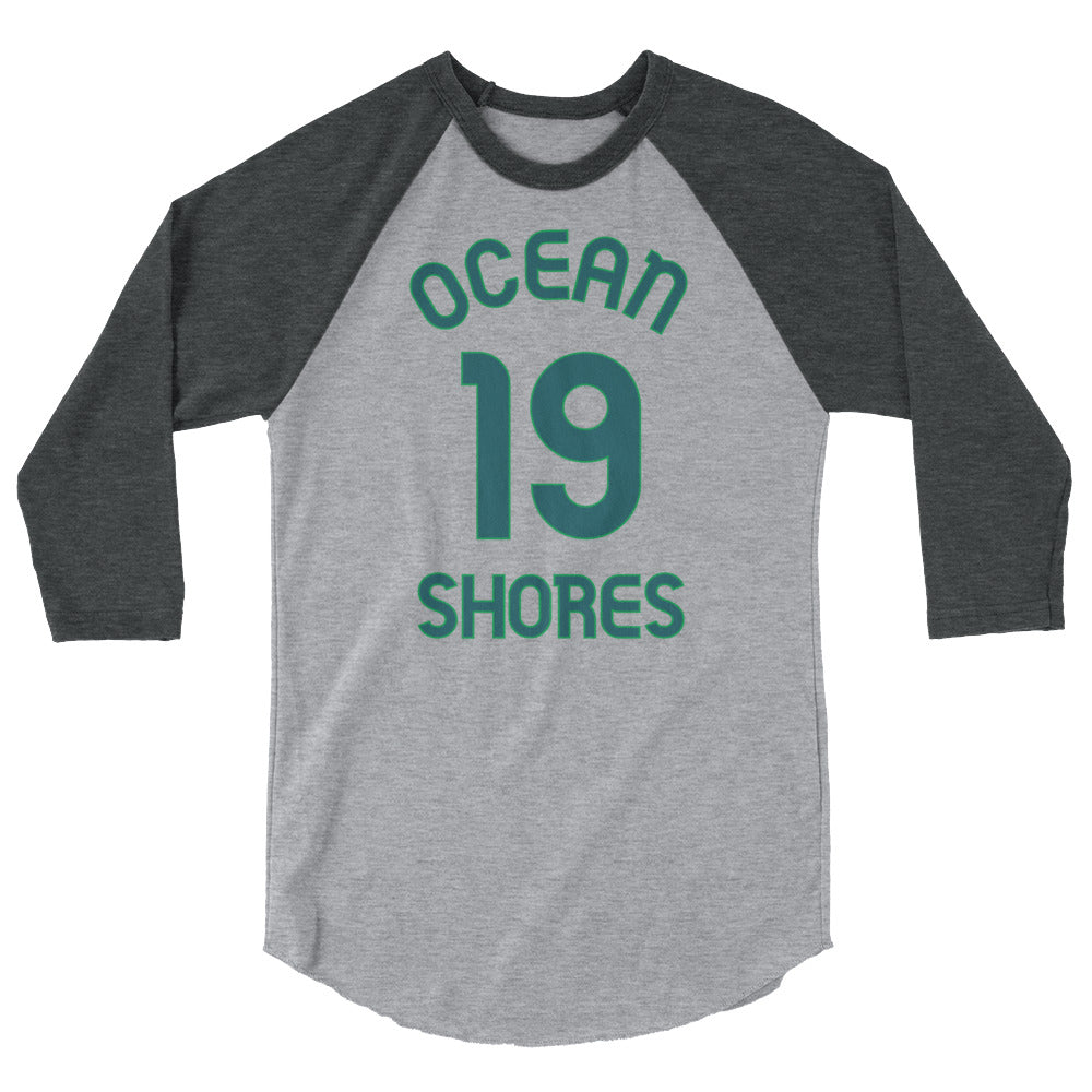 Ocean Shores, Washington - 3/4 Sleeve Raglan Milepost Jersey