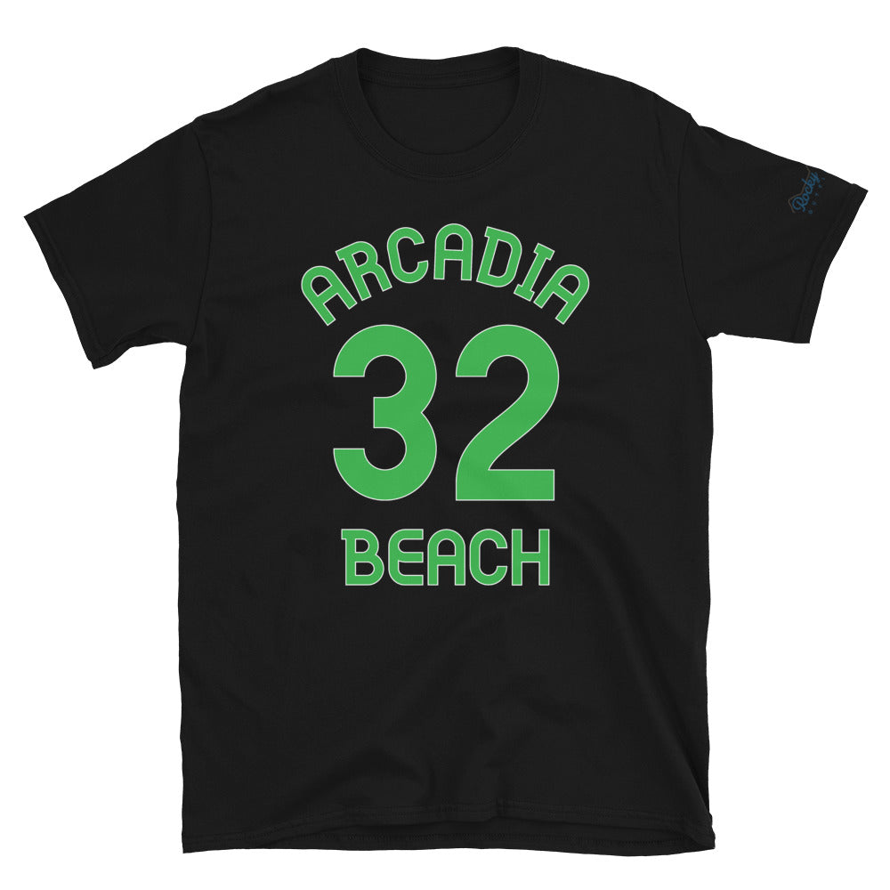 Arcadia Beach, OR - Milepost Jersey, Short-Sleeve Unisex T-Shirt