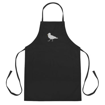 Strutting Gull with Fry Embroidered Butcher Apron