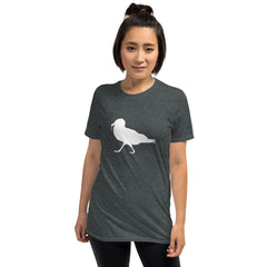 Strutting Seagull with French Fry Short-Sleeve Unisex T-Shirt