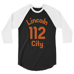 Baseball Jersey with Lincoln City and the number 112 printed on front