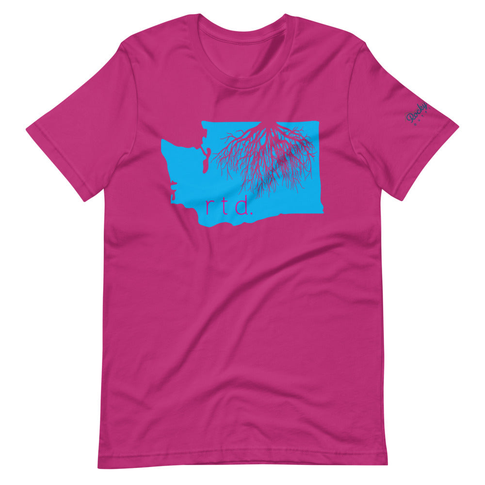 Rooted Washington Unisex T-Shirt, Cotton Candy Graphic