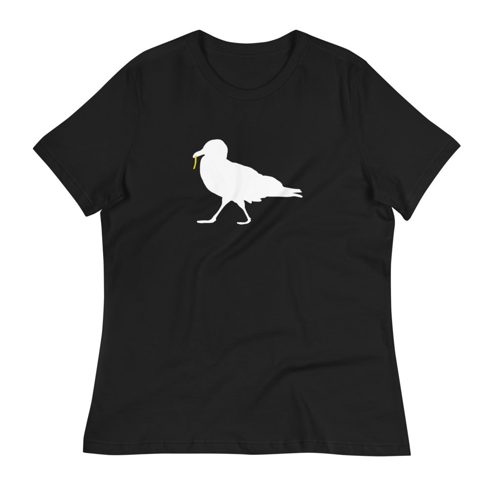 Strutting Seagull with French Fry Relaxed Women's T-Shirt