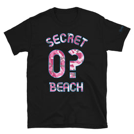 Secret Beach, Pink Camo - Milepost Jersey, Short-Sleeve Unisex T-Shirt