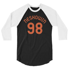 Neskowin, Oregon - 3/4 Sleeve Raglan Milepost Jersey - Orange Letters