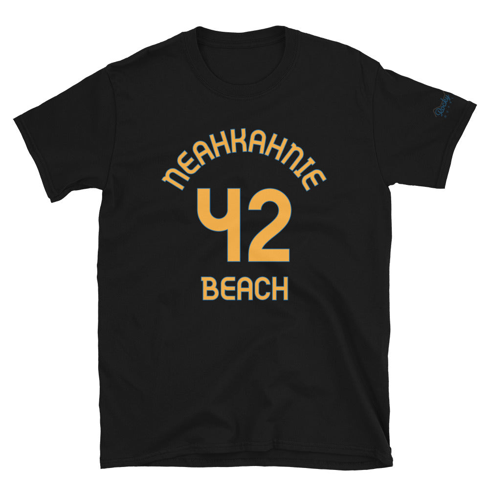 Neahkahnie Beach, OR - Milepost Jersey, Short-Sleeve Unisex T-Shirt