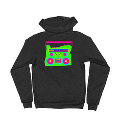 Oregon Neon Boom Box  Zip Up Unisex Hoodie