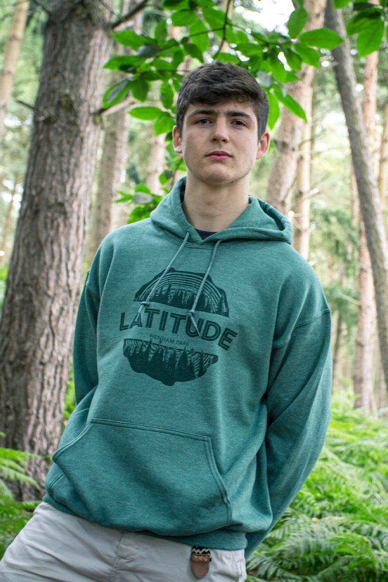 Logo Green Marl Pull Over Hoodie