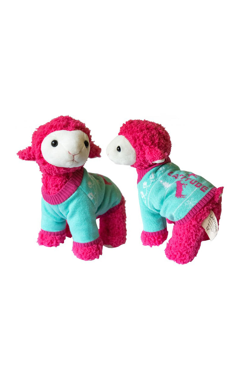 Pink Sheep Plush With Knitted Jumper