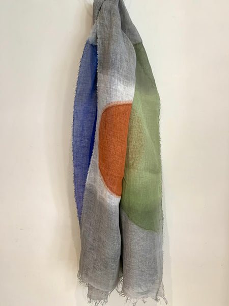 Exquisite Linen Scarf col 3
