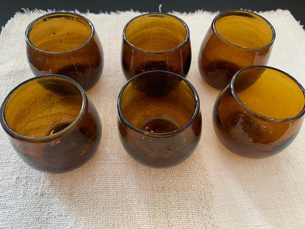 Lot de 6 verres ARNOUS Ambre