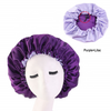 Purple + Lilac Adjustable Satin Bonnet