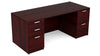 30x66 Kai Desk w/ Double Pedestal Greenguard Gold Certified