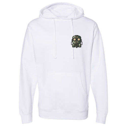 The Official Lockdown- White Cotton Hoodie - The Official Lockdown