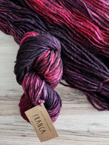 Super-soft, super-warm, super-quick: Franca makes luscious knits in superwash merino with a beautiful, watercolor-inspired palette.