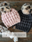 Quartz + Roujir Pom - Custom Luxury Beanie