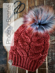 Jet Heather + Rebel Pom - Custom Luxury Beanie