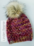 Andalusia + Grizzly Pom - Custom Luxury Beanie