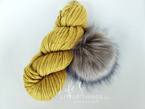 Stay stylish and warm during those chilly, winter days with this CUSTOM 100% Merino Wool Luxury Beanie!  That's right, you get to choose which design you'd like to have HANDMADE with this yarn + pom combination....so start flipping through the pictures to see your options...you have 10 OPTIONS to choose from!