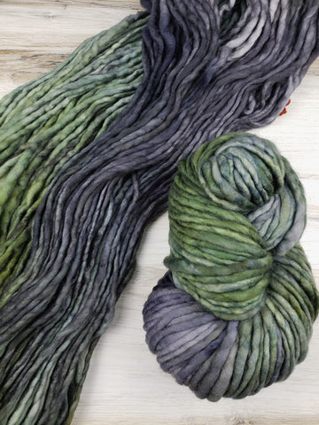 Super-soft, super-warm, super-quick: Logan makes luscious knits in superwash merino. This is a single ply yarn that is hand-dyed in small batches and is made in Canada.