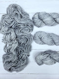 Sequoia makes luscious knits in superwash merino.  Super-soft, super-warm, super-quick.  This yarn is exclusively spun for Baah Yarns.  This yarn is comparable to the single ply 76yd skeins.