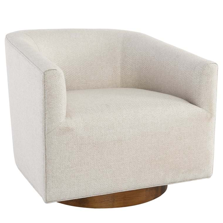 Leonard Swivel Accent Chair Beige