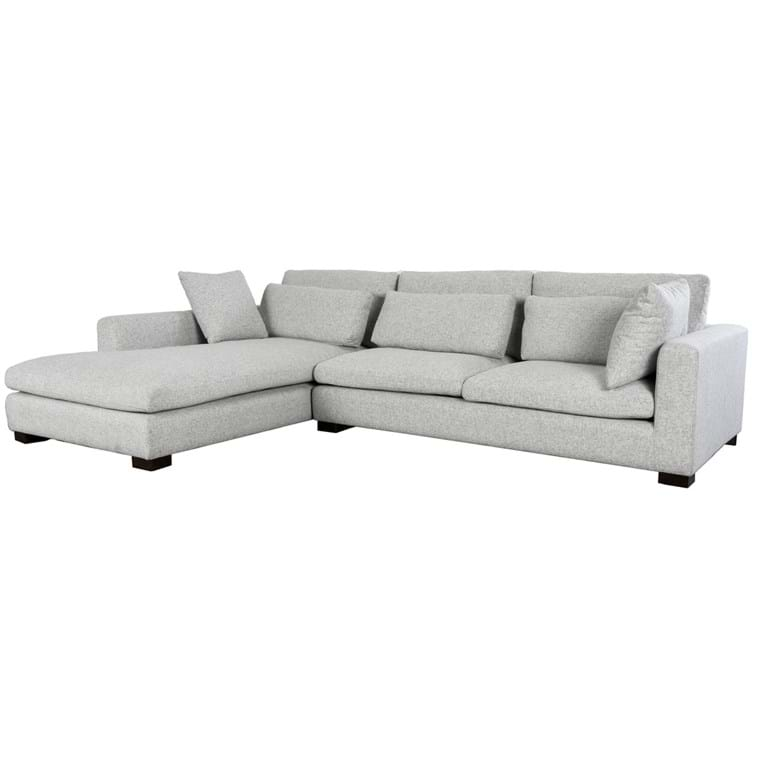 Thelma Sectional w/LAF Chaise Gray