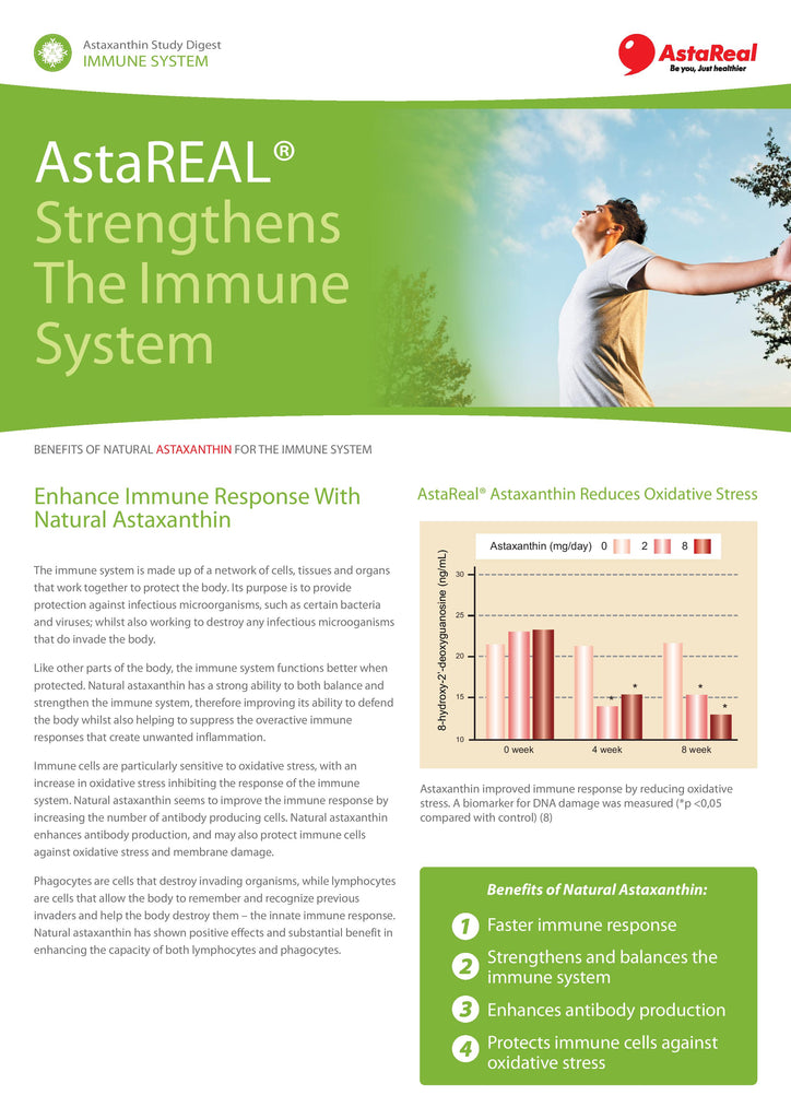 AstaReal® Strengthens The Immune System