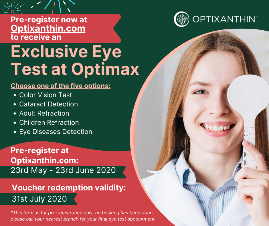 Redeem an Exclusive Eye Test at Optimax, Brought to you by Optixanthin