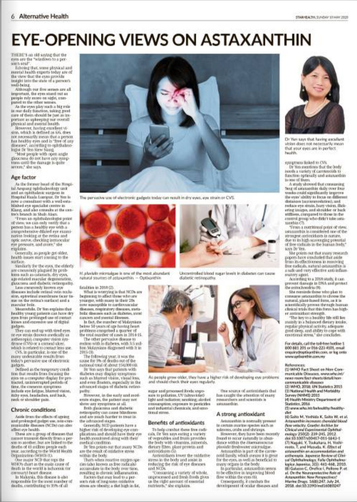 The Star Paper: Eye-Opening Views On Astaxanthin