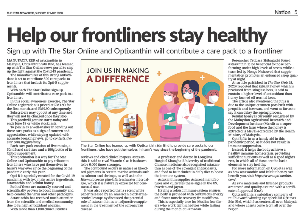 The Star Paper: Help our frontliners stay healthy