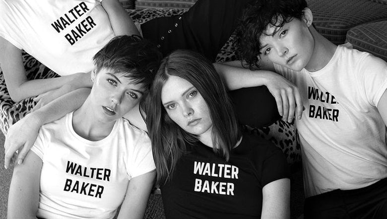 Group with Walter Baker t-shirts