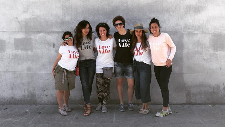 Group with Love Life T shirts