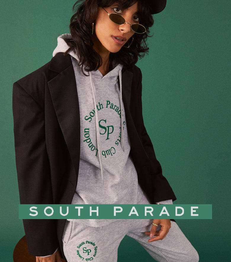 South Parade T shirt, green background