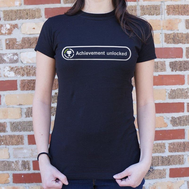 Achievement Unlocked T-Shirt (Ladies) - Ladies T-Shirt