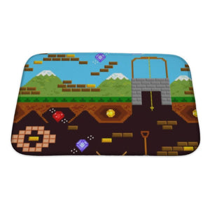 Bath Mat Retro Video Game - Bath Mat