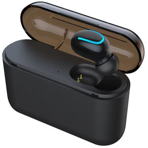 Bluetooth 5.0 Earphones - Single ear Black - Headset