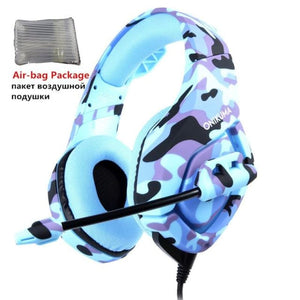 Camouflage Gaming Headset with Mic - Blue Camo - Headset