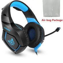 Load image into Gallery viewer, Camouflage Gaming Headset with Mic - Blue - Headset