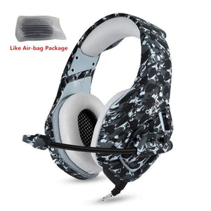 Camouflage Gaming Headset with Mic - Gray Camo - Headset