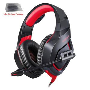 Camouflage Gaming Headset with Mic - Red - Headset