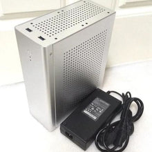 Load image into Gallery viewer, Computer Case Tower PC Gamer - Silver + 150 W Power Adapter - computer