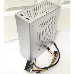 Computer Case Tower PC Gamer - Silver + 150 W Power Board - computer