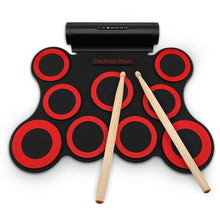 Load image into Gallery viewer, Electronic Drum - RED WITH BLACK - Toys & Hobbies